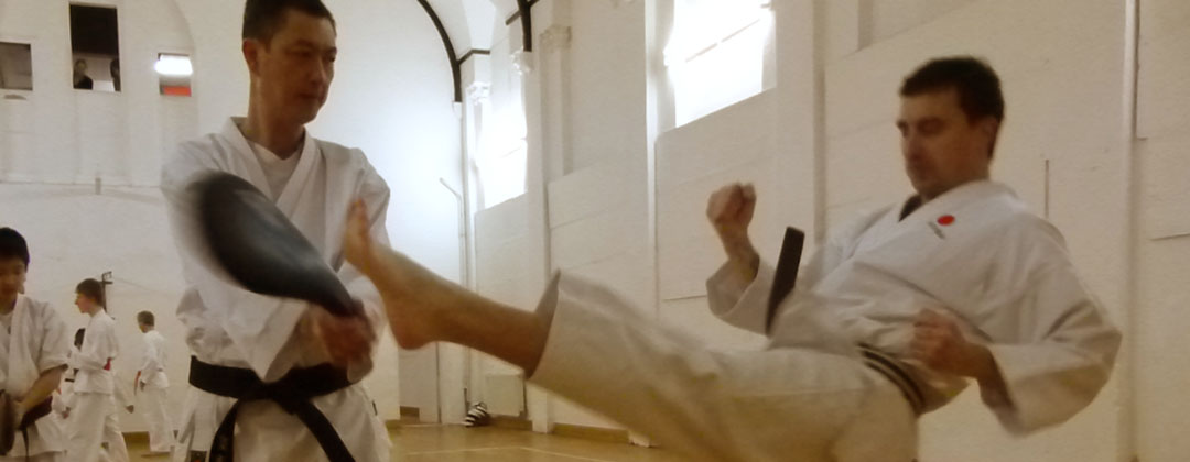 Exeter shotokan karate club teaches effective kicking techniques